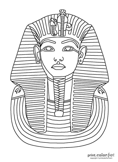 Ancient Mask Template by King Tut Mask Print Color Free Printables