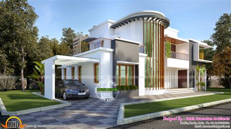 modern villa new modern villa plan kerala home design and floor plans