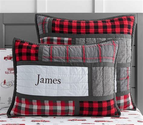 Next Patchwork Bedding - plaid patchwork quilted bedding pottery barn
