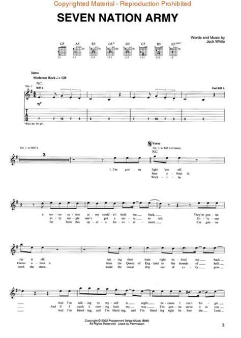 drum tutorial seven nation army buy white stripes sheet music tablature books scores