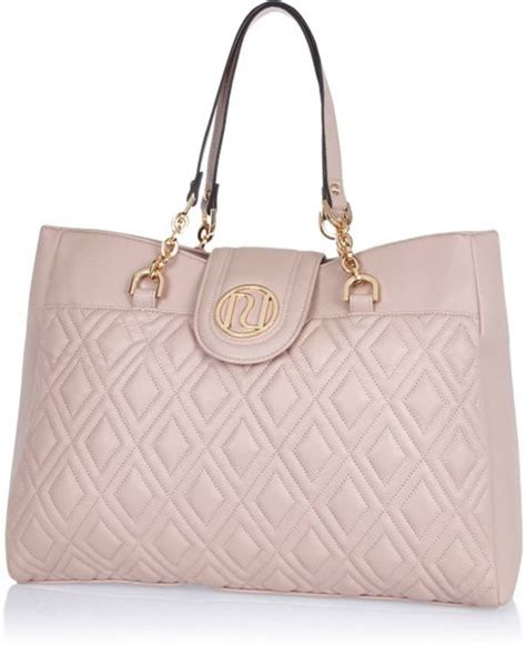 River Island Quilted Tote Bag by River Island Light Pink Quilted Chain Tote Bag In