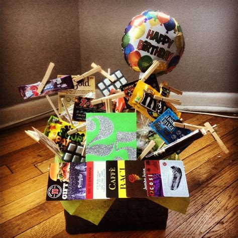 25 gift ideas quot 25 gifts quot gift basket i made for kyle s 25th birthday