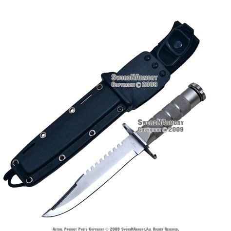 serrated bowie knife fixed blade bowie survival knife serrated w kit sheath ebay