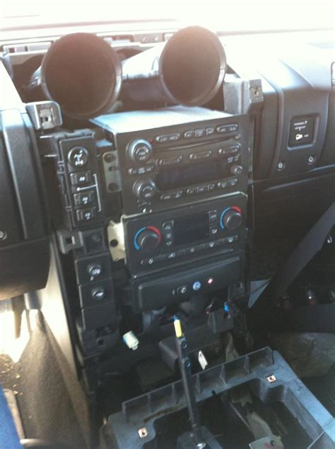 hummer h3 antenna replacement aftermarket stereo install in 2007 h2 w bose