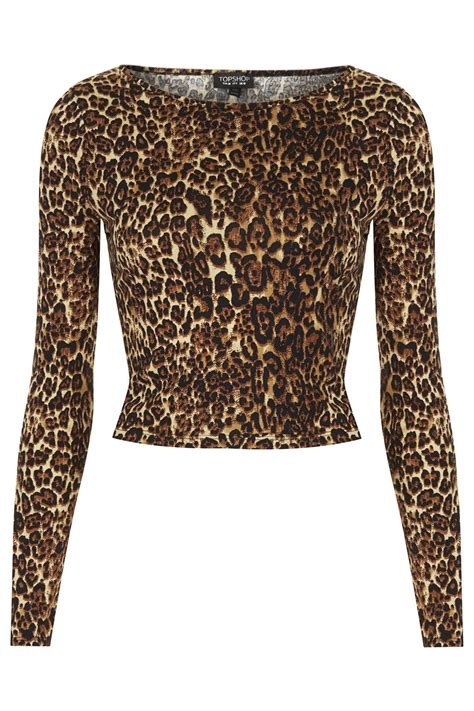 Olly And Suzi Tops At Topshop by Lyst Topshop Leopard Print Top In Brown