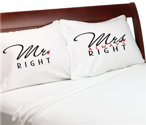 Mr Right Mrs Always Right Pillow by Mr Right Mrs Always Right Pillowcases Bridal Shower Weddings