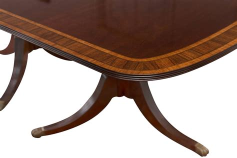 sheraton style pedestal mahogany dining table at