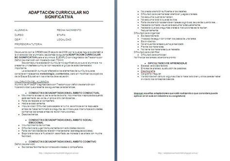 Modelo Adaptacion Curricular Ingles Primaria Aci Tdah Modelo Nuevo Orientaci 243 N And 250 Jar Recursos Educativos