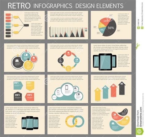 infographic templates for business vector illustration retro vintage infographic template business vector stock