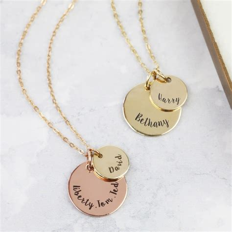 Makeup Jewelry Charming Or Disaster Waiting To Happen by Personalised Solid 9ct Gold Disc Necklace
