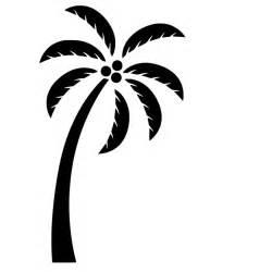 Palm Tree Stencil Outline by Palm Tree Cliparts Co