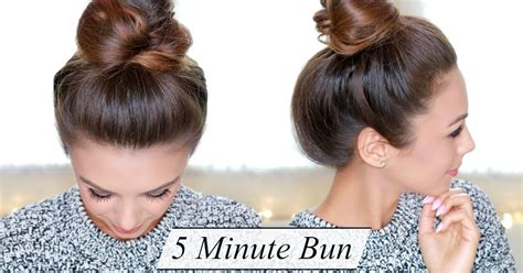 easy hairstyles no product annie jaffrey quick easy chic bun