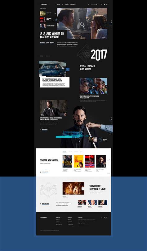 web ux tutorial web design ui ux lionsgate pitch concept