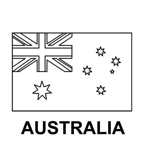 australian flag template to colour coloring pages australian flag driverlayer search engine