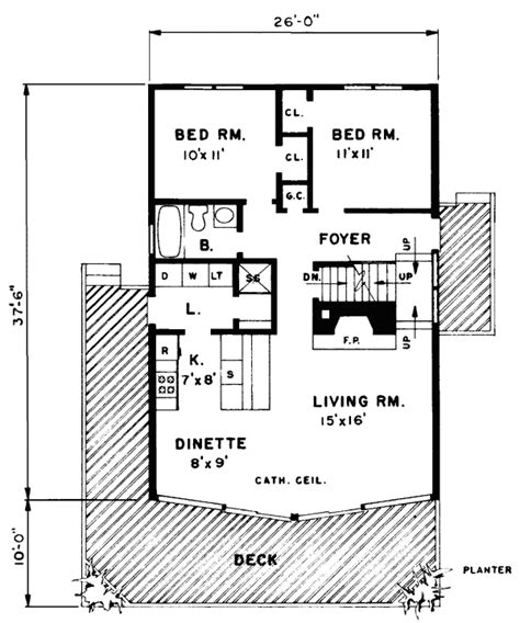 pdf diy log cabin floor plan kits download lettershaped house plan 43072 at familyhomeplans com