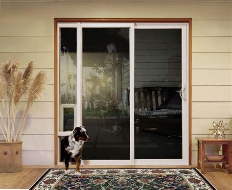 Sliding Doors with Pet Access   Custom Home Magazine