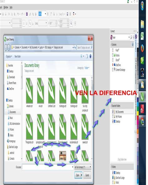 corel draw x5 quitar modo visor corel ver archivos con vista en miniatura