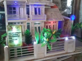 Harga Miniatur Rumah Stik Es Krim by Rumah Miniatur Dari Stik Es Krim