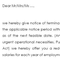 Vorlage Kündigung Arbeitsvertrag Englisch Fristgerechte K 252 Ndigung Mit Abfindungsangebot Englisch Muster Jetzt Downloaden