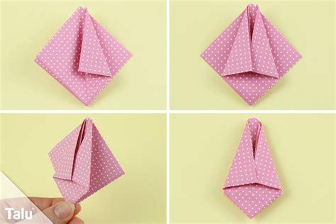 Origami Basteln Mit Papier by Origami Tulpe Falten Diy Anleitung Zum Ausdrucken Talu De