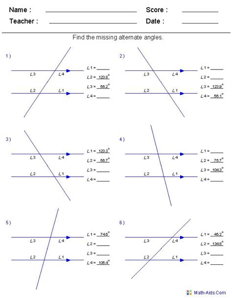 geometry worksheets angles worksheets for practice and study angle math worksheets angles in a triangle geometry math
