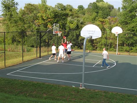Sport and car view basketball court images