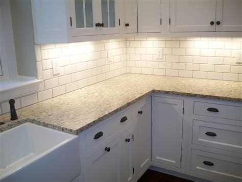 subway tile kitchen backsplashes glass subway tile backsplash snow white 3x6 glass subway