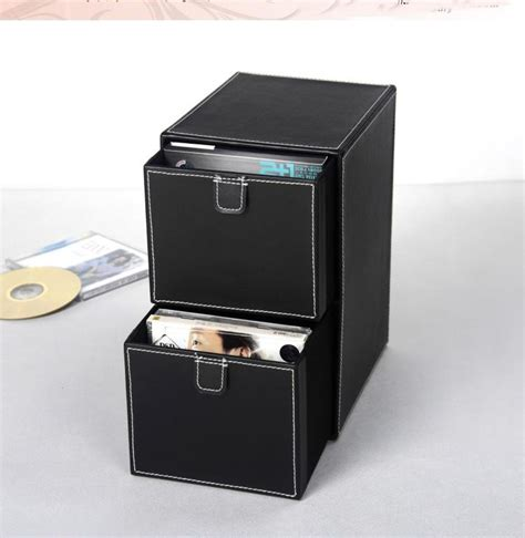 Storage Box 2 In 1 Organizer Pakaian Dalam home 2 layer 2 drawer leather desk cd dvd sundries container storage box organizer holder