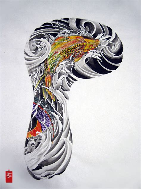 koi arm tattoo designs koi sleeve designs cool tattoos bonbaden