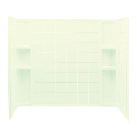 bathtub wall set sterling ensemble tile 33 1 4 in x 60 in x 55 1 4 in 3