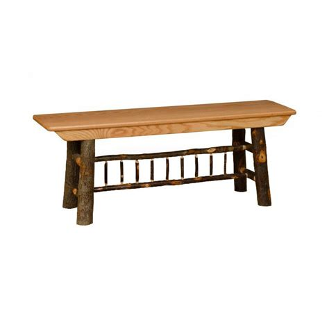 Amish Stools And Benches by All Hickory Rustic 4 Farm Bench Amish Made Usa Ebay
