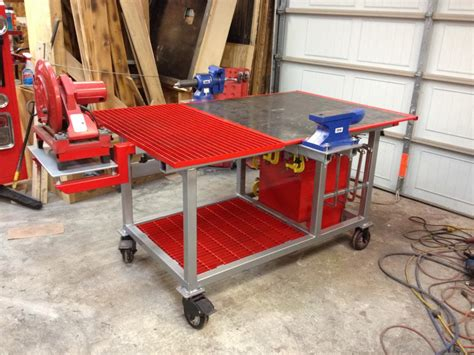 how to build a welding table welding table build with tool storage vise plasma