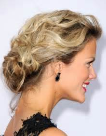 soft updo hairstyles best low loose bun updo 2013 side view of the low loose