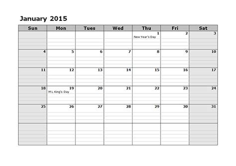 2015 Monthly Calendar Template 08   Free Printable Templates