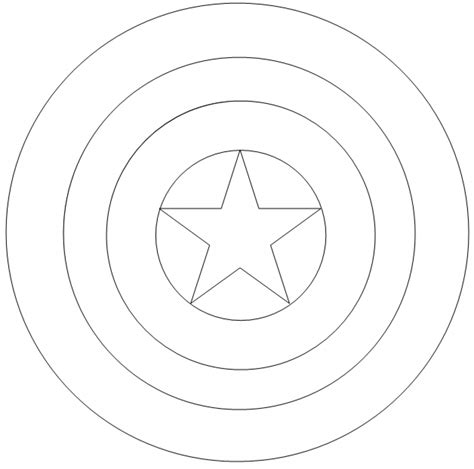 printable captain america star captain america shield coloring pages printable
