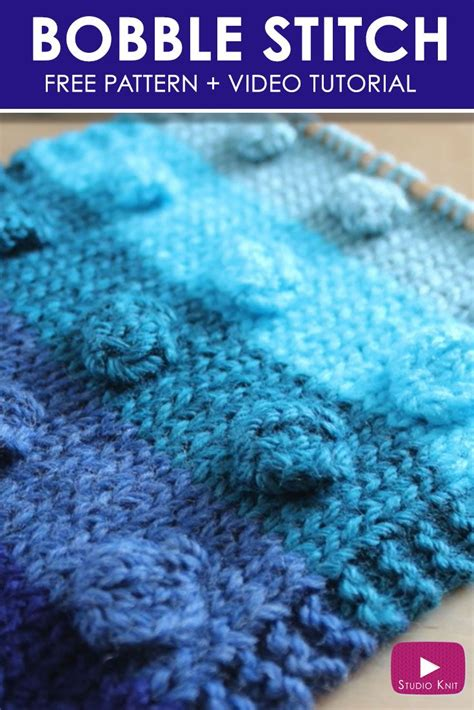 how to knit a bobble button how to knit the bobble stitch pattern bobble stitch