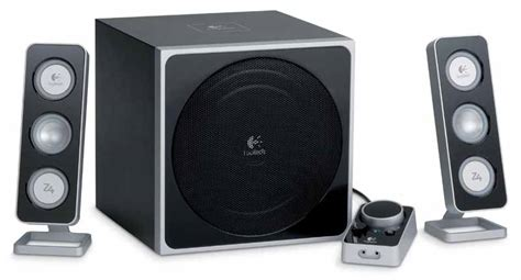 Logitech Z 4i 2 1 Speaker System logitech z 5450 z 4 wireless 5 1 surround sound speaker