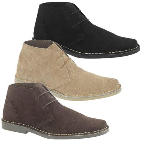 roamers mod suede 2 rubber sole lace up desert boots