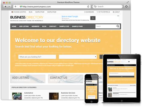 themes wordpress premium nulled premiumpress responsive business directory theme v8 8