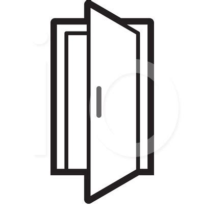 open door clipart black and white clipartxtras