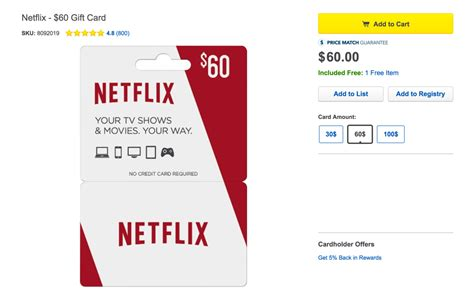 Where To Buy Netflix Gift Card In Store - buy a 60 gift card for netflix and get 10 in free best buy money 9to5toys
