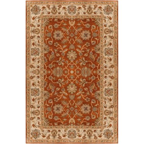 home depot wool area rugs artistic weavers paillet terracotta wool 10 ft x 14 ft area rug the home depot canada
