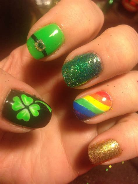 St Pattern Nails | 78 ideas about irish nails on pinterest st patricks day