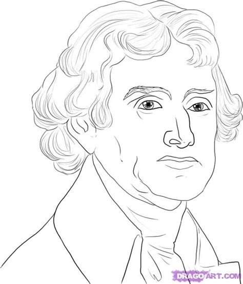 free coloring pages of thomas jefferson