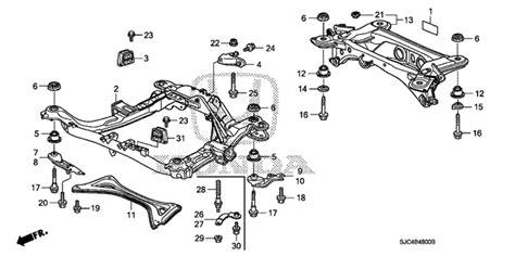 auto air conditioning service 2006 honda ridgeline engine control oem 2006 honda ridgeline sedan front sub frame cross