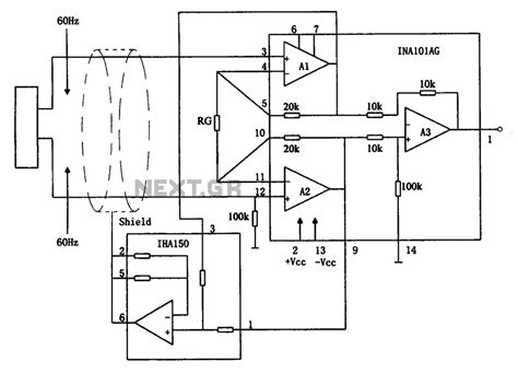 integrated circuit instrumentation lifier gt audio gt lifiers gt eliminate hum instrumentation lifier ina101 circuit l59280 next gr