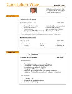 Curriculum Vitae Uk by Cv Examples Uk New Calendar Template Site
