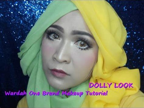 tutorial makeup dari wardah wardah one brand makeup tutorial dolly look youtube