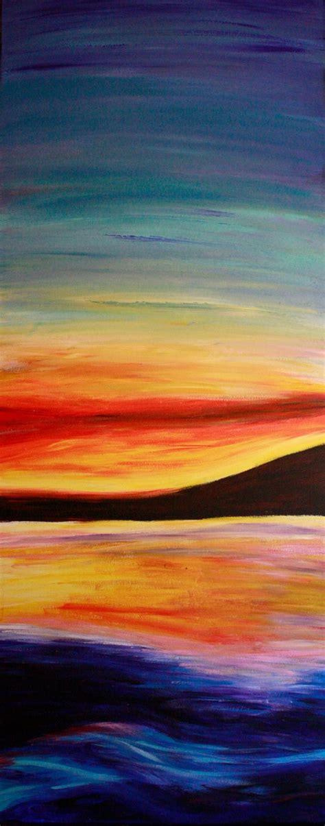 Sunset Acrylic Painting Artistry Sun