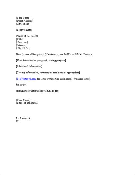 Business Letter Template For Word Sle Business Letter Free Letter Templates With Picture Insert
